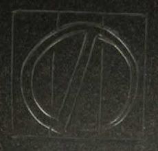 Photo: NOGAWA mark carved into steel base metal