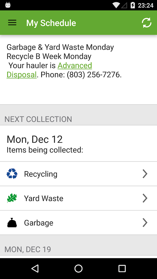 Lexington County SC SolidWaste- screenshot
