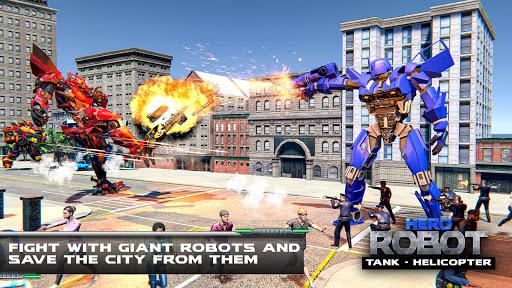 Helicopter Transform War Robot Hero: Tank Shooting 1.1 screenshots 8