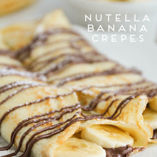 Nutella Banana Crepes.