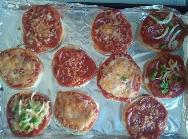 When ready place in oven and bake for 10 minutes. This are delicious hot...