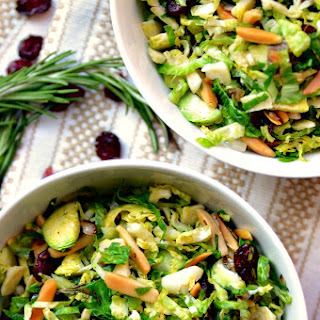 Maple-Shallot Brussels Sprout Salad
