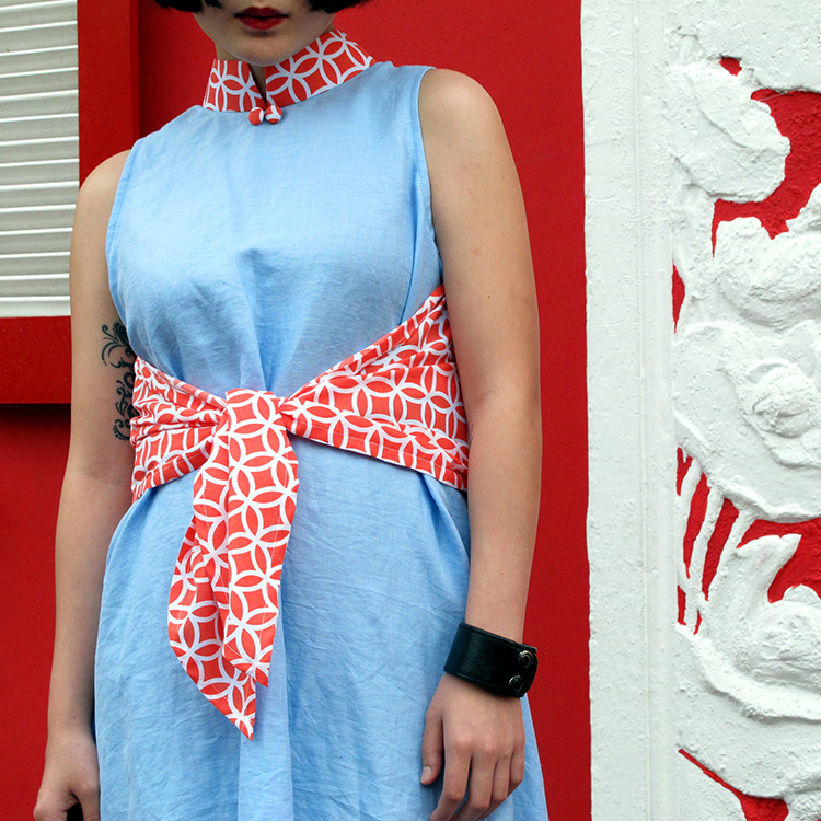 Shan Qipao Blue Medium