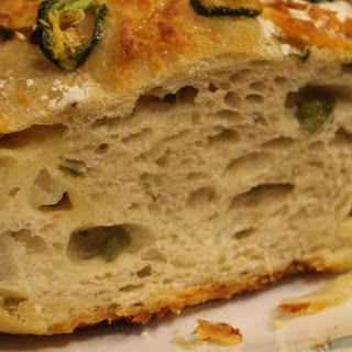 No Knead Jalapeno Cheese Bread.