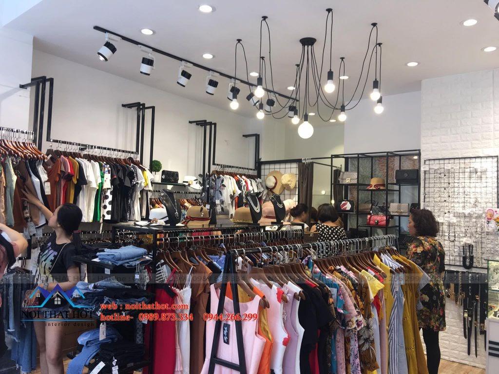 thi công nội thất shop thời trang nữ Chiboutique