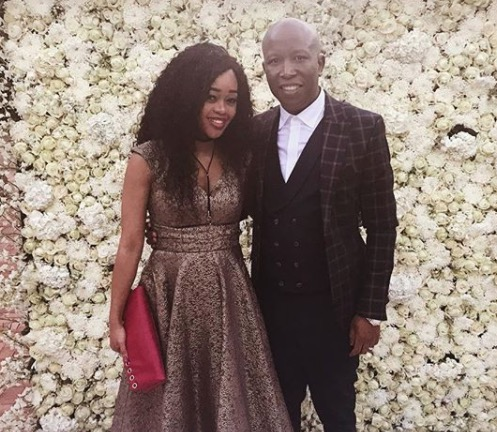 Julius Malema and his wife, Mantoa are doting parents.
