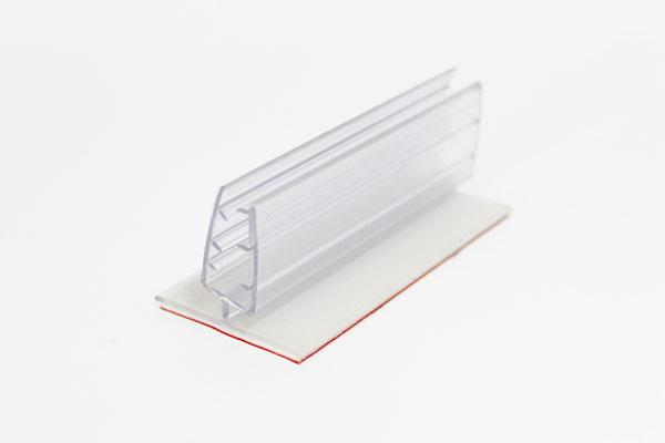 pinza plástica sujeta gráficas abatible de 7,5 x 4 cm con adhesivo espumoso