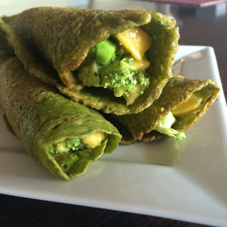 Spinach Crepes.