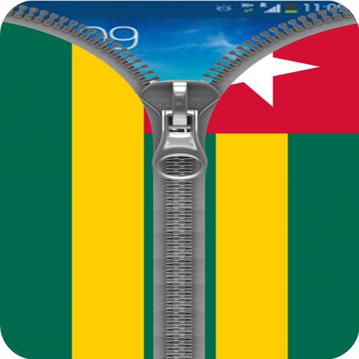 Togo Flag Zipper Screenlock