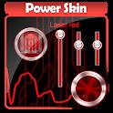 Laser rouge Poweramp Peau icon