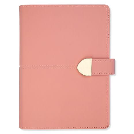 Weekly A5 konstläder rosa