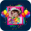 Birthday Photo Frame- Photo On Cake icon