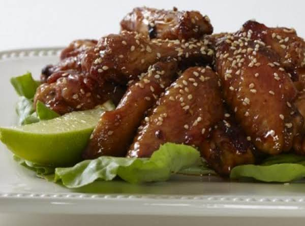 Asian Chile-garlic Wings With Sesame Seeds