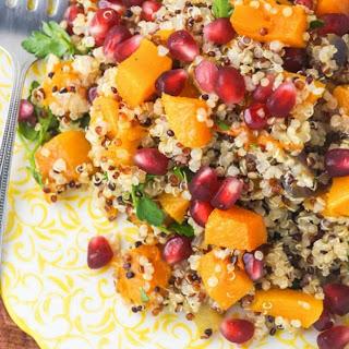 Butternut Squash and Quinoa Salad with Pomegranate Recipe