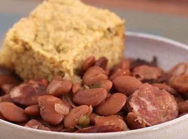 My Slow Cooker Pintos & Smoked Sausage