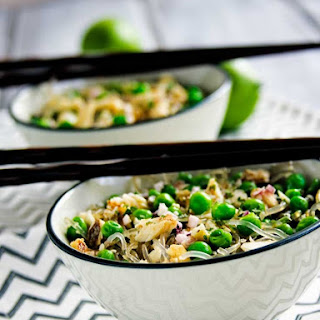 Spring Pea and Onion Noodle Bowls {Gluten Free}.