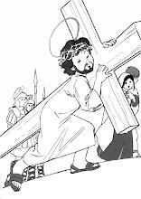 Photo: jesús con la cruz a cuesta