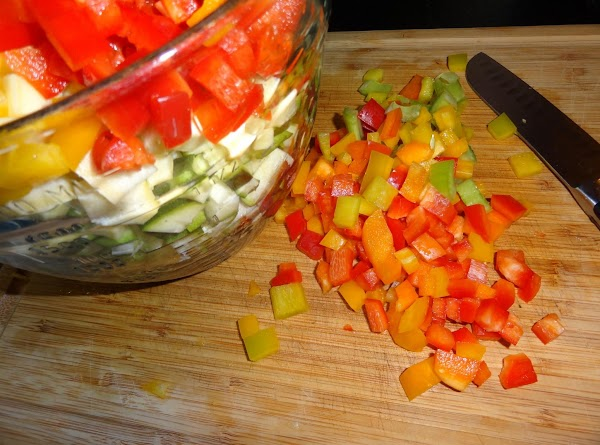 Add veggies and rest of ingredients.
