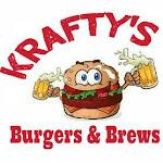Logo for Krafty's Burgers & Brews