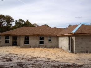 Photo: November 13, 2012 Shingles underway. Photo by Lake Weir Living