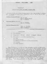 Photo: Minutes of Inter- Club meeting Nov. '62 (1)