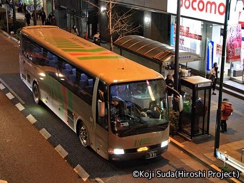 弘南バス「スカイ号」 ・991 上野駅前到着_01