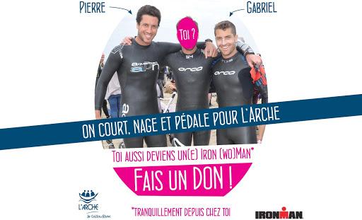Gabriel et Pierre participent à l'Iron Man 2015 à Nice au profit de L'Arche
