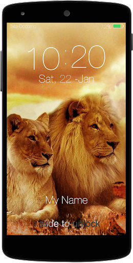 Lion Keypad Lock Screen