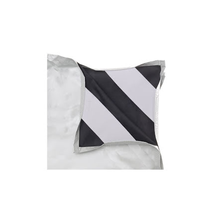 White / Black Fabric