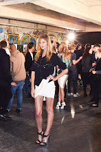 Photo: Constance Jablonski backstage at Anthony Vaccarello S/S13