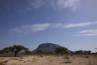 Photo: a table mountain nearby