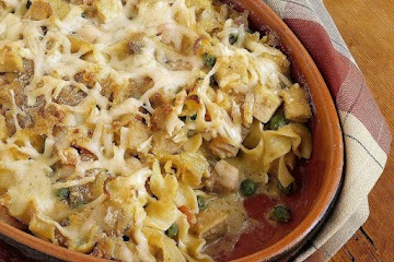 Classic Tuna Casserole -- American Comfort Food Tuna Noodle Casserole Martin Jacobs/photolibrary/getty Images 50 Min (18) By John Mitzewich Updated 02/21/17 Share Pin Email The Quintessential American Casserole Recipe. Often The Brunt Of Jokes By Food Sno