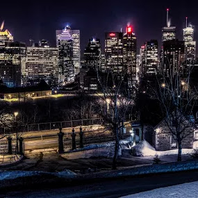 Montreal from the hotel dieu by Joe Hamel - Buildings & Architecture Office Buildings & Hotels