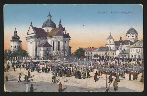 Hetman. Żółkiew town on postcard