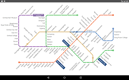 Busan Metro Map 2017 Apps On Google Play