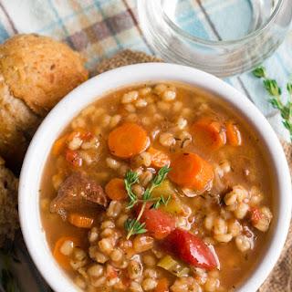 Vegan Beef Barley Soup Recipe