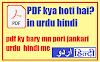 PDF kya hai? - Full jankari Urdu Hindi me - PDF kya hoti hai?
