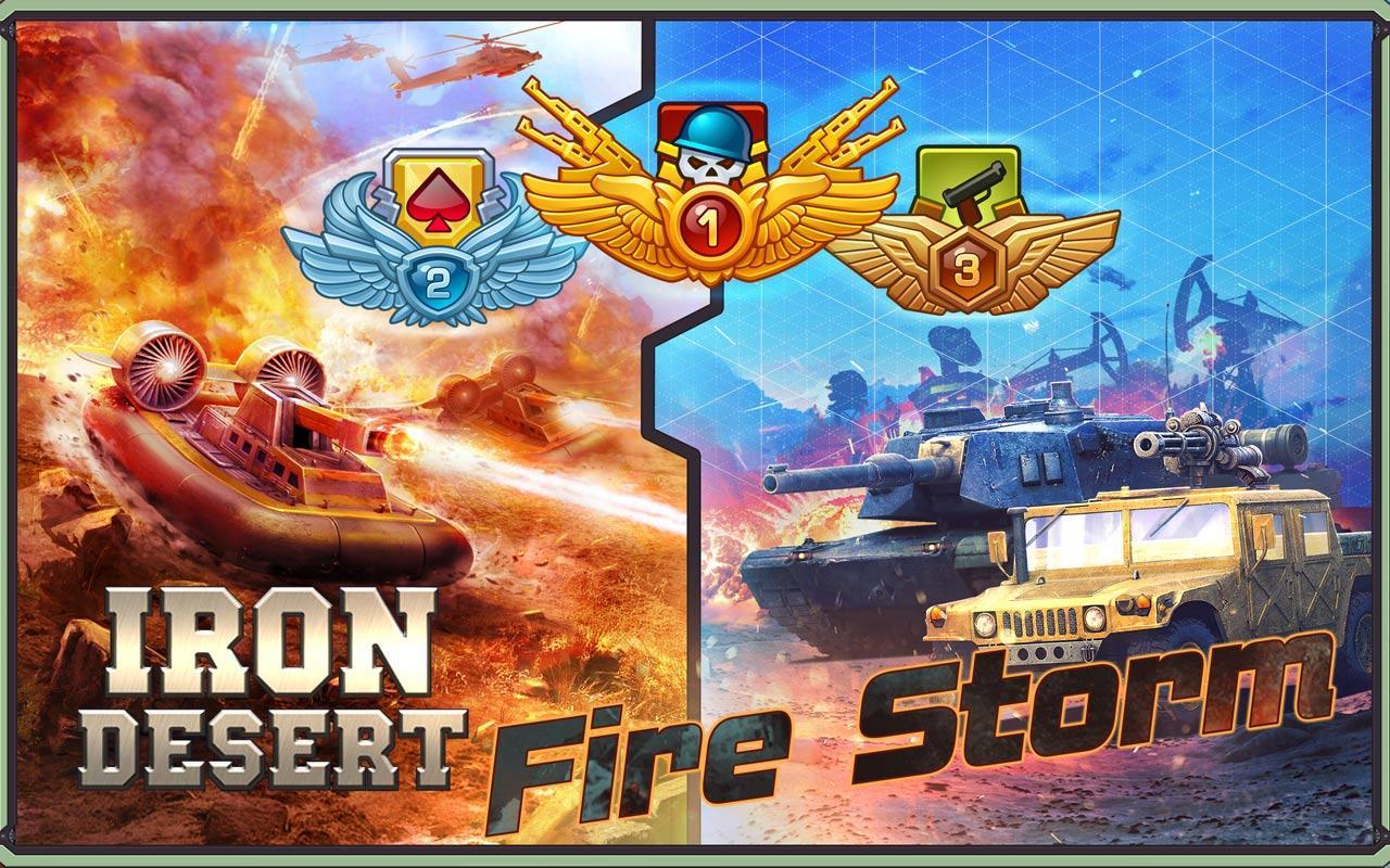 Screenshots of Iron Desert - Fire Storm for iPhone