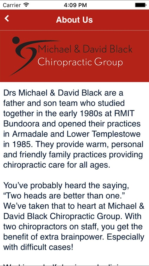 Michael & David Black Chiro- screenshot