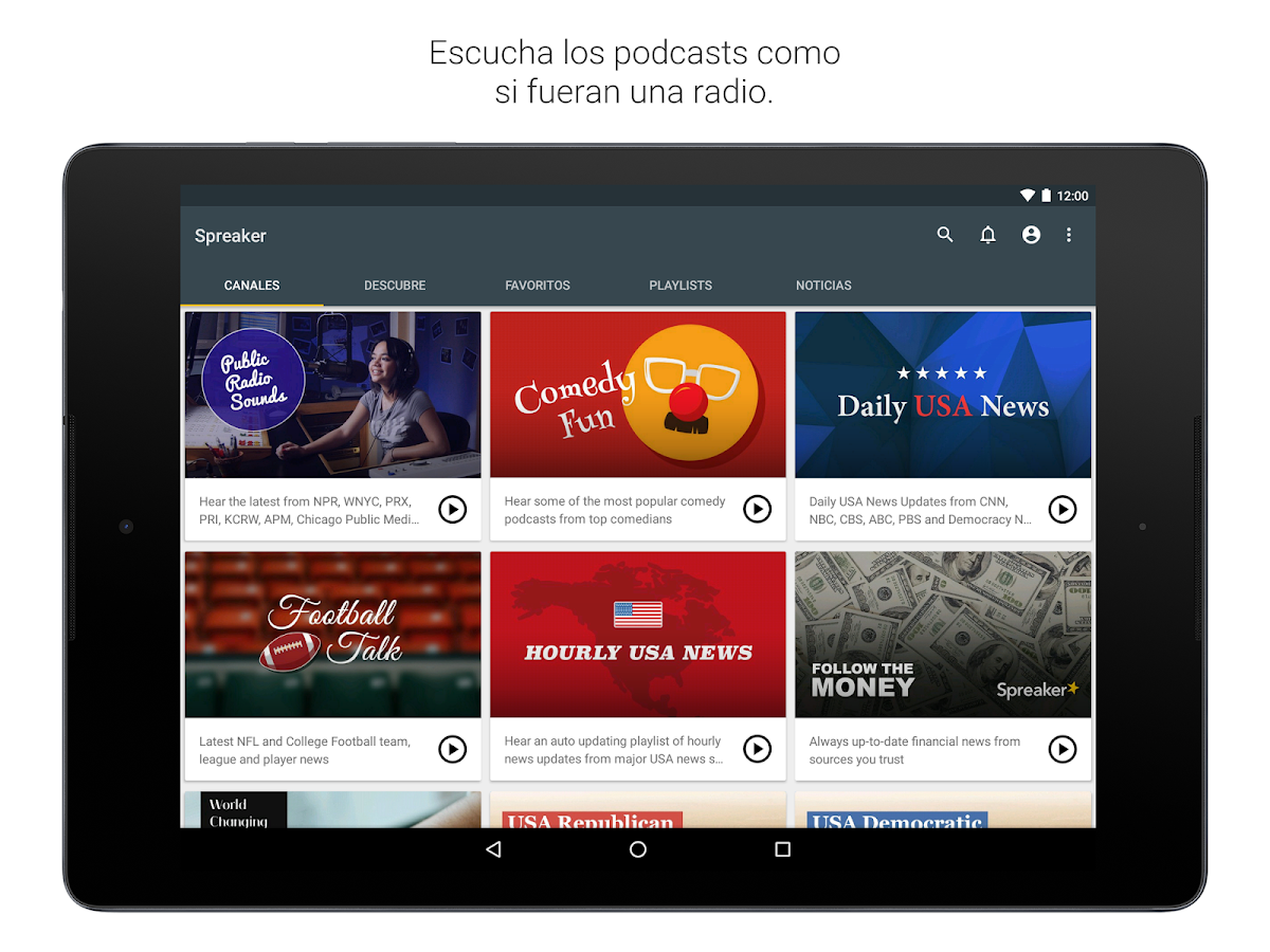 Spreaker Podcast Radio: captura de pantalla