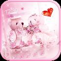 Cute bear theme love wedding icon
