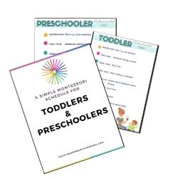 montessori preschooler schedule