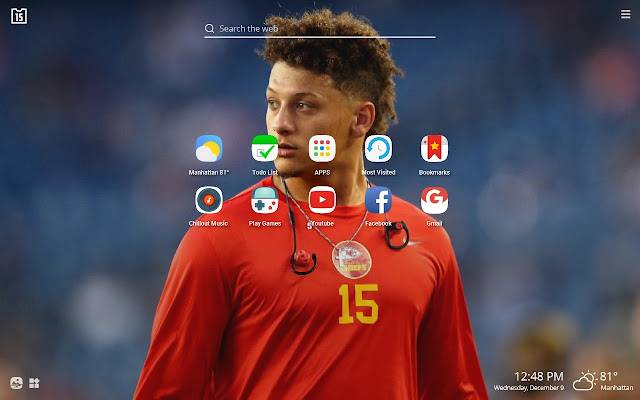 Patrick Mahomes Nfl Hd Wallpapers New Tab