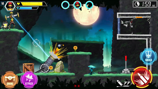 Mr Shooter Offline Game -Puzzle Adventure New Game android2mod screenshots 15