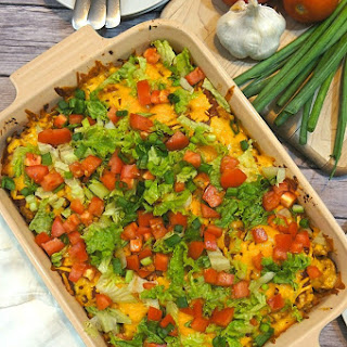 Easy Turkey Taco Casserole.