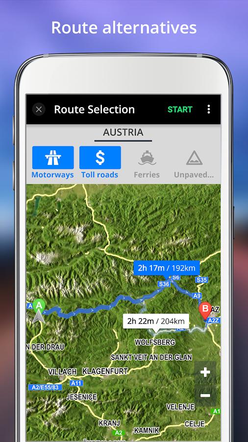 GPS Navigation BE-ON-ROAD- screenshot