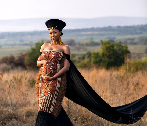 Minnie Dlamini Jones's traditional outfit gives potential clues about the baby's gender