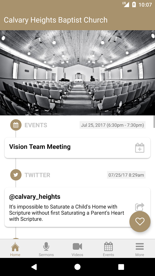 Calvary Heights Baptist Church- screenshot