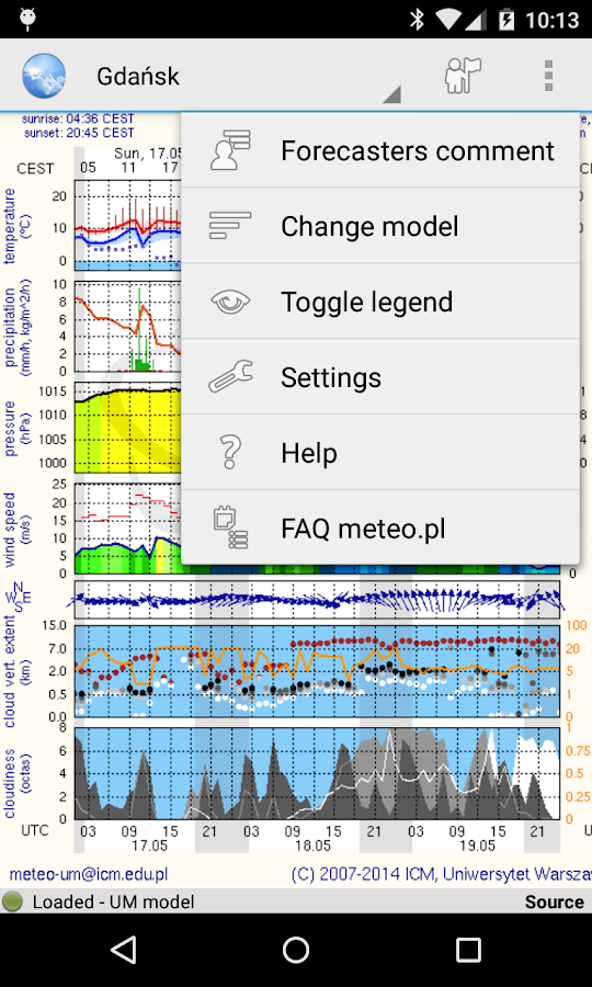 Meteo - meteo.pl reader- screenshot