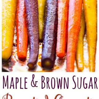 Baked Carrots Recipe with Maple and Brown Sugar.